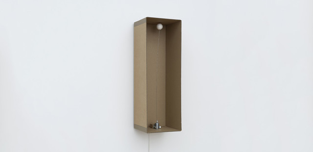 , '1 prepared dc-motor, cotton ball, cardboard boxes 60x20x20cm,' 2013, Galerie SOON