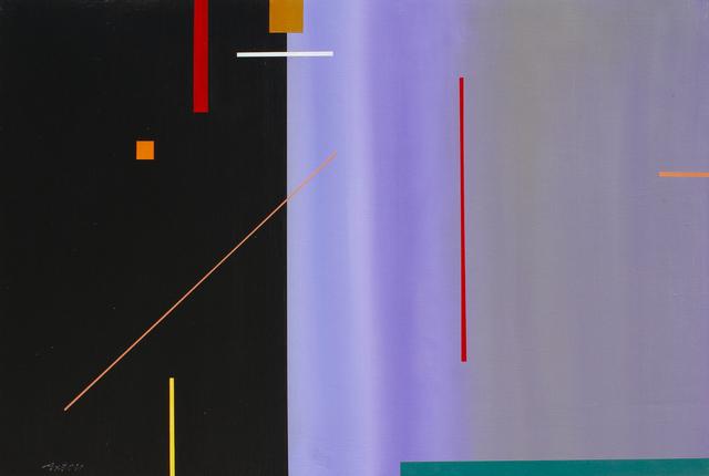 John Axton, 'Skipping Stones', 2019, Painting, Acrylic, Ventana Fine Art