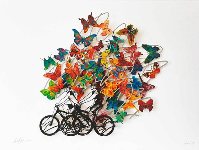 David Gerstein, 'Happy Hours', 2013, Drawing, Collage or other Work on Paper, 3D-Papercut on 3 layers, individually hand painted, Galerie Kellermann