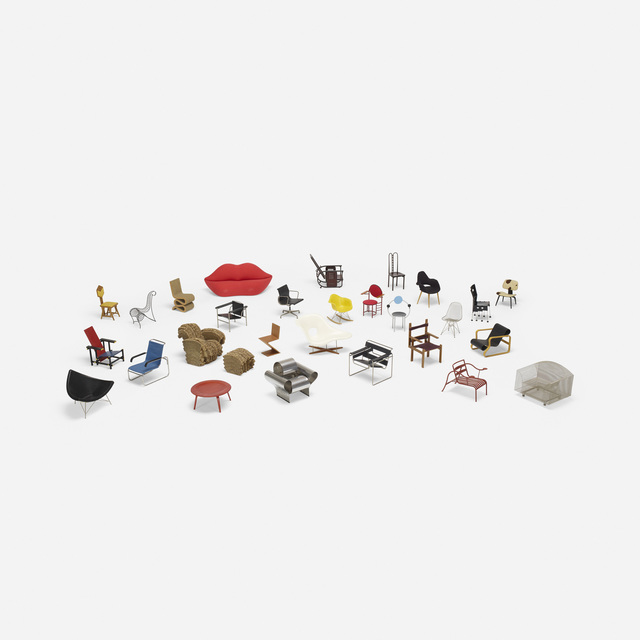 Vitra, 'Collection of twenty-eight miniatures', Wright