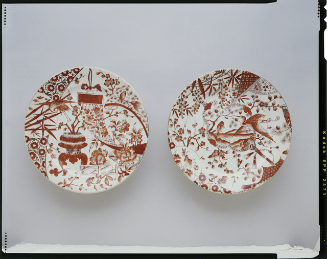 , 'Pair of dinner plates; Ott & Brewer, Trenton,' 1870, Newark Museum