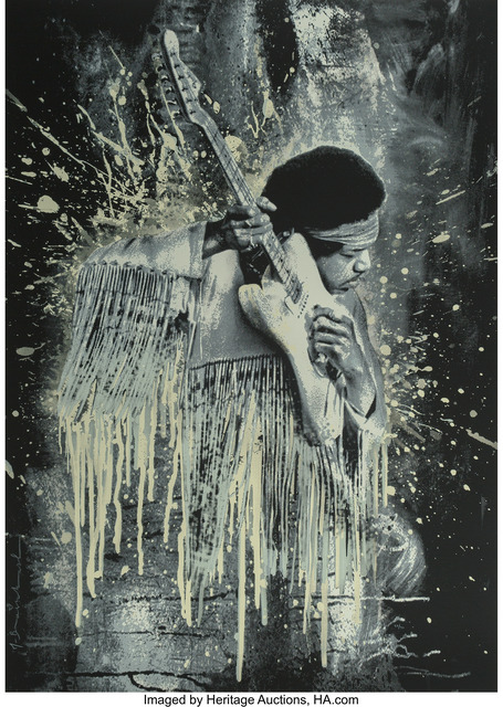Mr. Brainwash, 'Jimi Hendrix (white)', 2015, Heritage Auctions