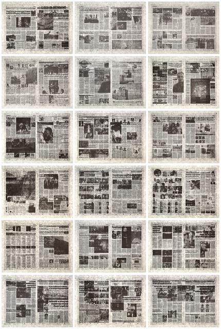 , 'L'eco di Bergamo -Set of 18 lithographs ,' 2014, Polígrafa Obra Gráfica