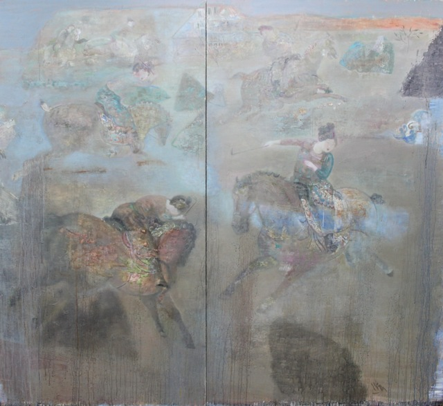 , 'Playing Polo (diptych) 打馬球圖(雙聯畫),' 2013, ArtCN