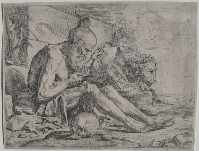 , 'St. Jerome reading,' ca. 1624, Jan Johnson Old Master & Modern Prints