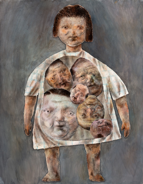 Lai Wei-Yu, 'She got too many middle-aged men in her body', 2019, Painting, Acrylic, Charcoal on Canvas, Yiri Arts