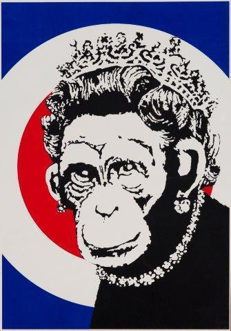 Banksy, 'Monkey Queen', 2003, Roseberys
