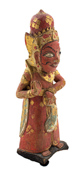 Unknown Artist, 'Wooden Finial  Figure-Red & Gold filt', 19th Century, David Barnett Gallery