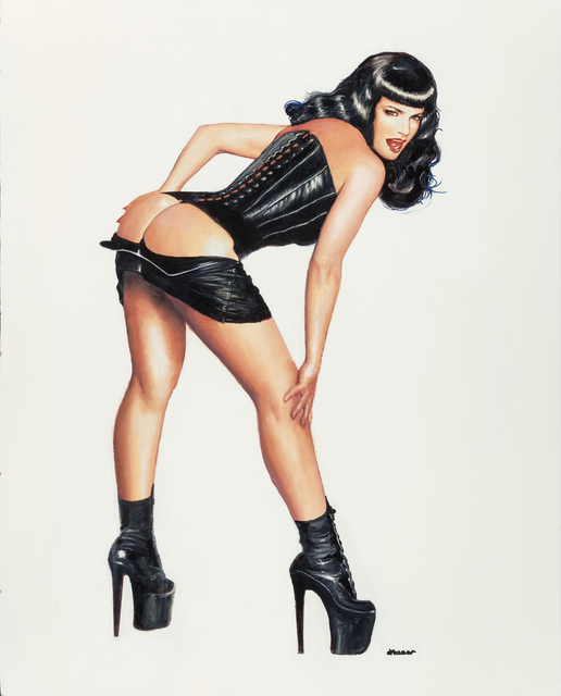 Ron Lesser, 'Whoops! (Bettie Page)', The Illustrated Gallery