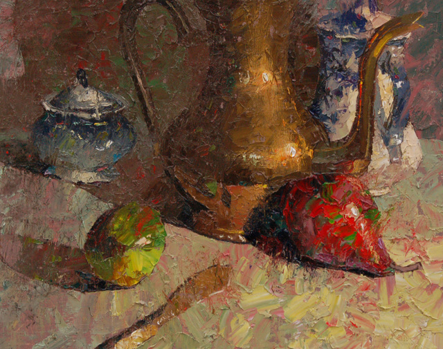 , 'Red Pear and Green Lime with Copper and Flow Blue,' 2015, Gallery 1261