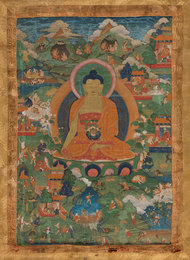 Tibetan Thangka of Shakyamuni Buddha