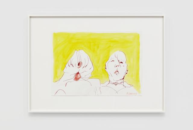 Maria Lassnig, 'Double Self', 2000, Over the Influence