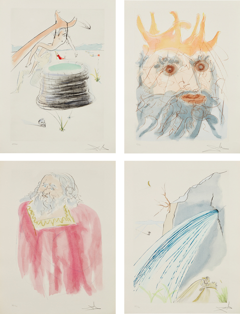 Salvador Dalí, 'Our Historical Heritage', 1975, Print, The complete set of 11 etchings with pochoir in color, on Arches paper, with full margins, contained in the original blue cloth covered portfolio with copper relief, Phillips