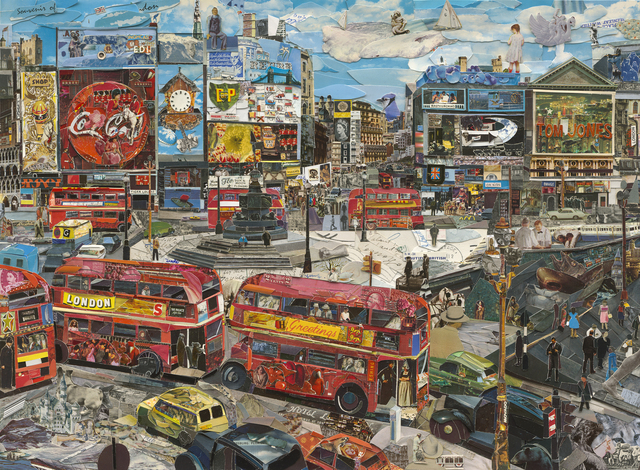 , 'Piccadilly Circus (Postcards from Nowhere),' 2014, Ben Brown Fine Arts