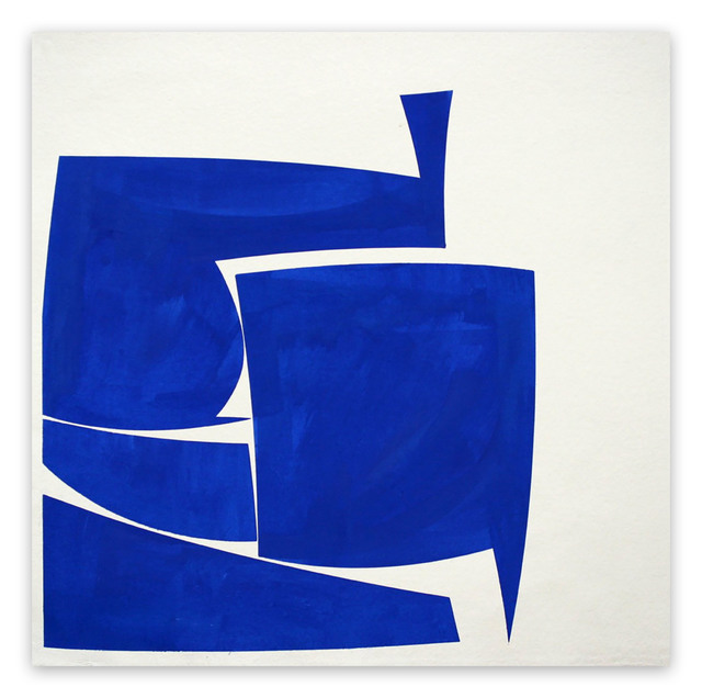 Joanne Freeman, 'Covers 24 Blue A Summer (Abstract painting)', 2016, Painting, Gouache on handmade Khadi paper, IdeelArt