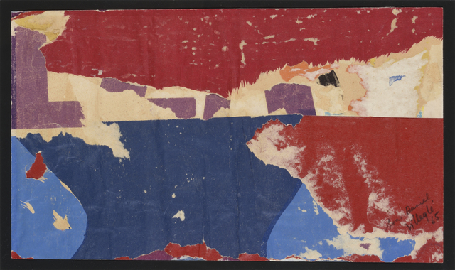 Jacques Villeglé, 'L'Horizontale Au Signe Mauve', 1965, Drawing, Collage or other Work on Paper, Lacerated posters, DIGARD AUCTION