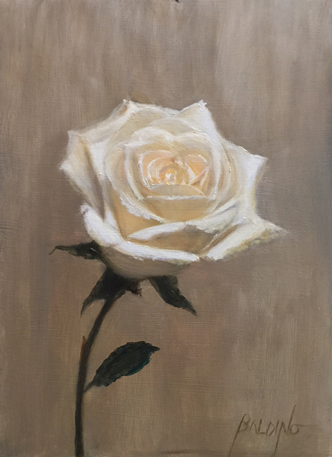 , 'One White Rose,' 2019, The Galleries at Salmagundi