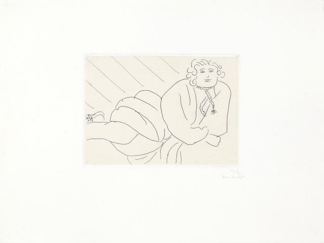 Henri Matisse, 'Jeune femme, la cordelière de son peignoir en collier', 1929, Print, Etching on Chine appliqué on Arches Velin paper, Bernard Jacobson Gallery