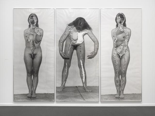 Annegret Soltau, 'Körper-Eingriffe (schwanger) [Body intervention (pregnant)]', 1977/78, Richard Saltoun