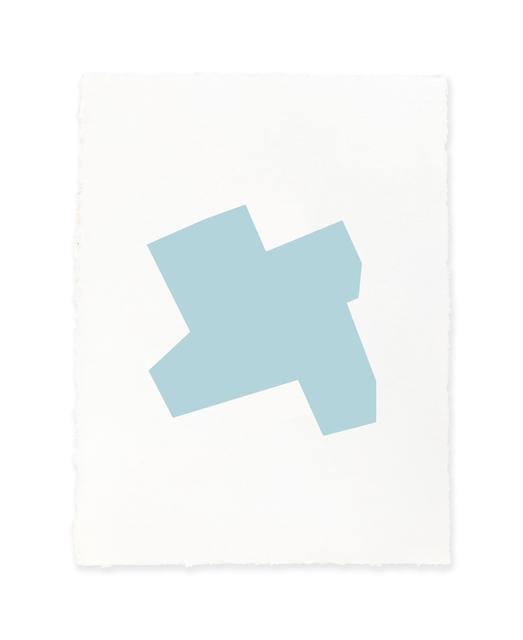 Jeff Kellar, 'white w/blue', 2019, Richard Levy Gallery