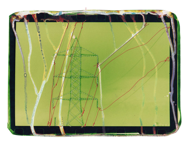Andrew K. Thompson, 'Untitled (green powerlines with orange)', 2016, GALLERY 1/1