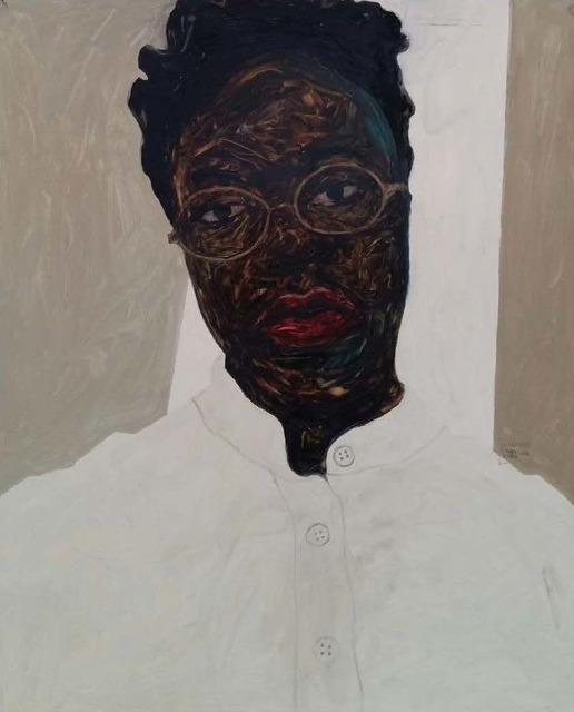 Amoako Boafo, 'Frances Bodomo I', 2018, Mariane Ibrahim Gallery