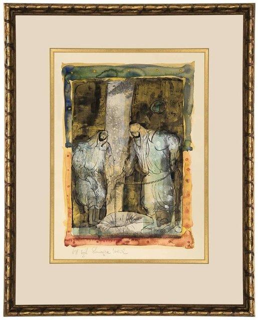 "Shraga Weil, 'Israeli Modernist ""At The Cistern"" Biblical Painting', 20th Century, Lions Gallery"