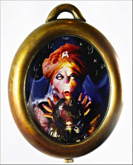 ", '""THE FORTUNE TELLER"", LIMITED EDITION, ARTIST CREATED POCKETWATCH,' 1993, Alpha 137 Gallery"