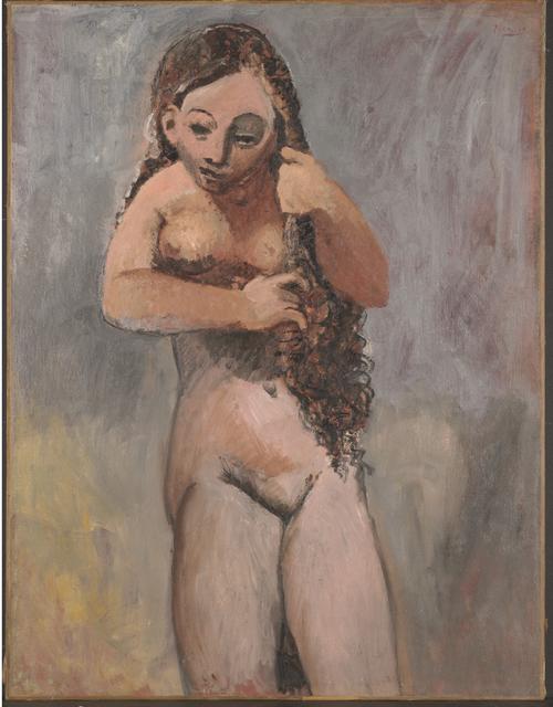 Pablo Picasso, 'Nude Combing Her Hair', 1906, Clark Art Institute