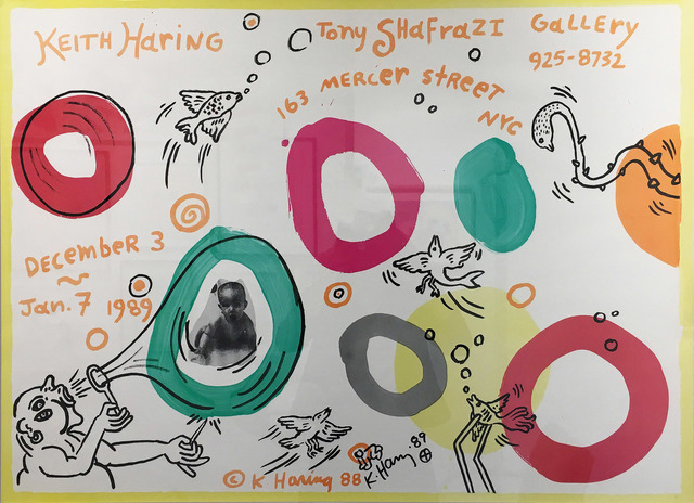 Keith Haring, 'Keith Haring Exhibition Poster for Tony Shafrazi Gallery', 1988, Madelyn Jordon Fine Art