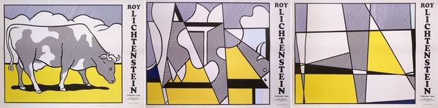 Roy Lichtenstein, 'Cow Going Abstract (Triptych)', 1982, Artsnap