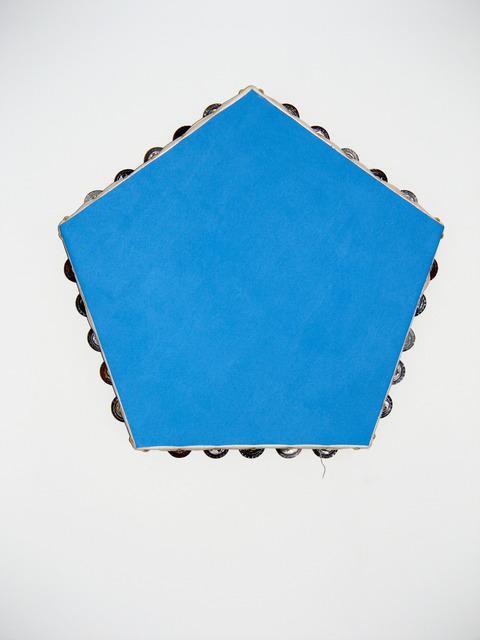 , 'Blue Pentagonal Monochrome (tambourines),' 2012-2014, Galerie Laurent Godin