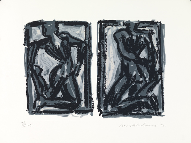 , 'Two figures, two movements,' 1991, Robert Eagle Fine Art