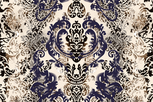 , 'The Lucent Parlor: Damask Wallpaper ,' 2015, Cade Tompkins Projects