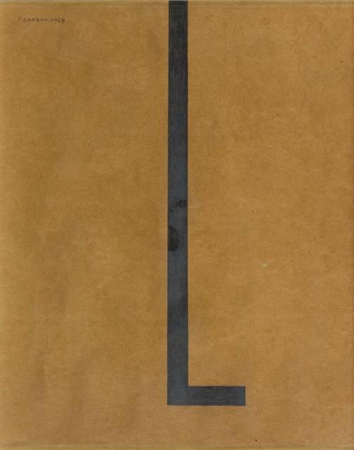 Radomir Damnjonoviæ-Damnjan, 'Drawing', 1968, Drawing, Collage or other Work on Paper, Graphite on cardboard, ArtRite