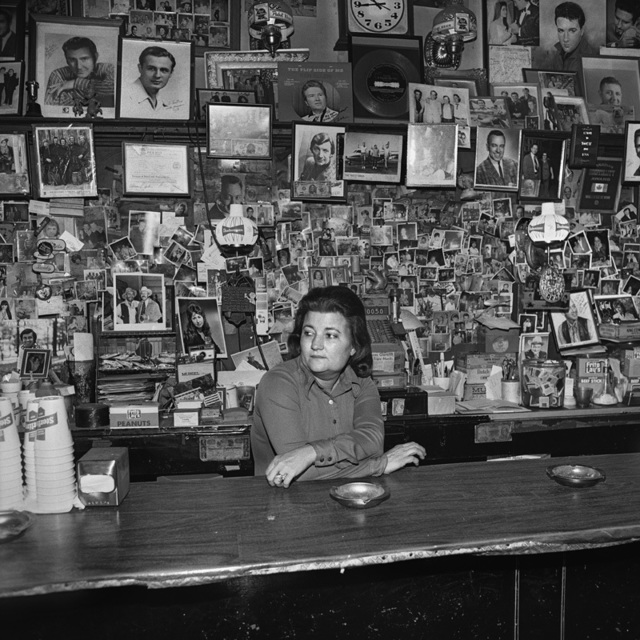 , 'Wanda behind the Bar, Tootsie's Orchid Lounge,' 1974, Scott Nichols Gallery