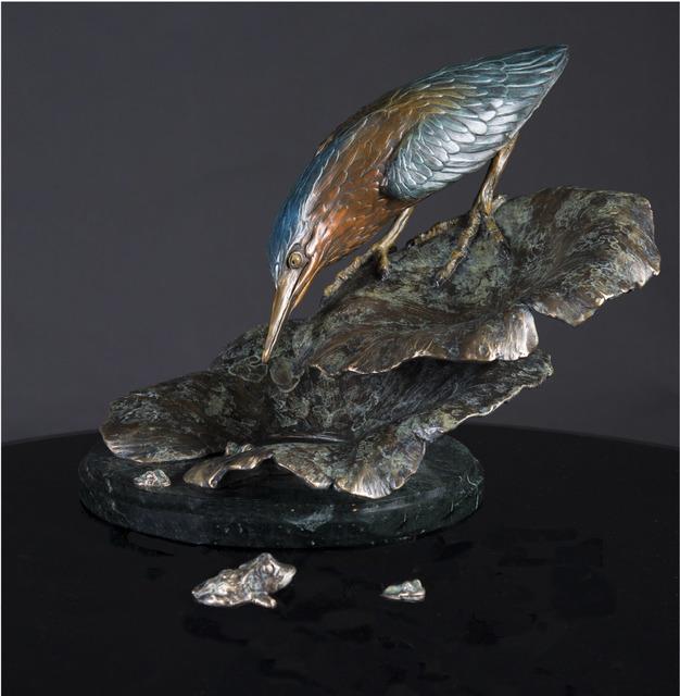 , 'Green Heron on Lotus,' , Geoffrey C. Smith Galleries