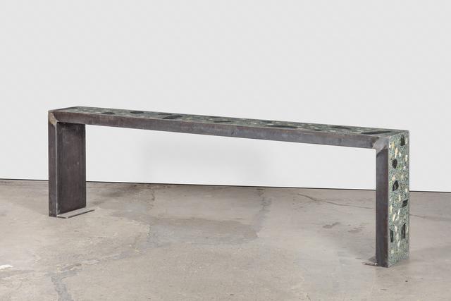 , 'Healing Sculpture (Terre verte bench),' 2016, Galerie Eva Presenhuber