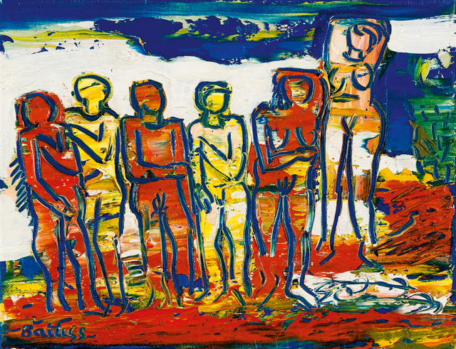 Walter Battiss, 'Bathers', Painting, Oil on canvas, Strauss & Co