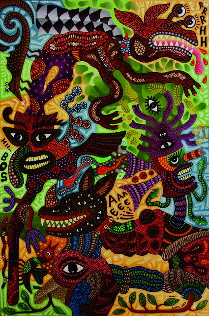 Kusbudiyanto, 'Super Dog ', 2018, galerie bruno massa
