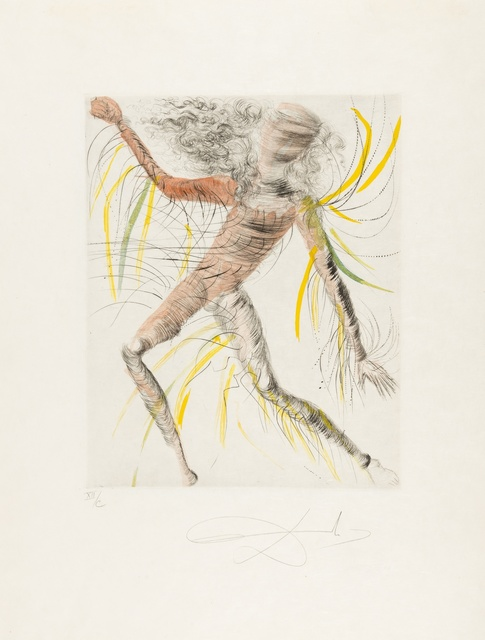 Salvador Dalí, 'Hippies (M & L 377-387b; Field 69-13)', 1969-1970, Print, The complete set of 11 etchings with drypoint and hand-colouring, Forum Auctions