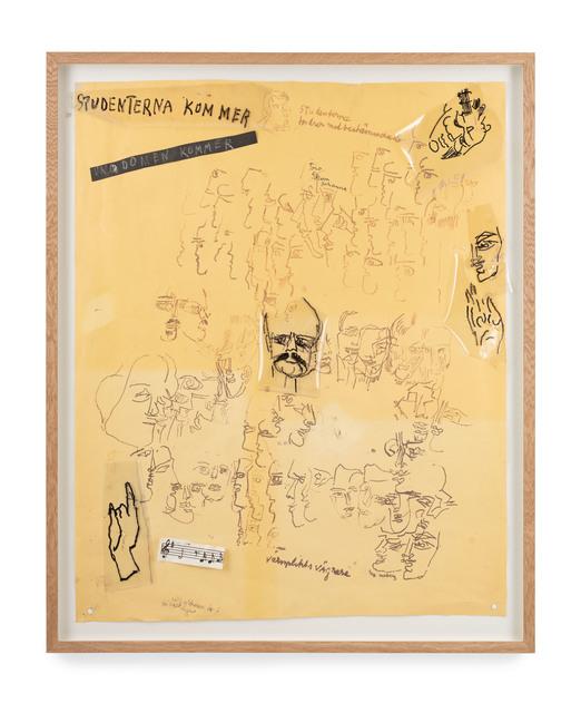 Siri Derkert, 'Studenterna kommer (skiss till Sverigeväggen)', 1967-68, Andréhn-Schiptjenko
