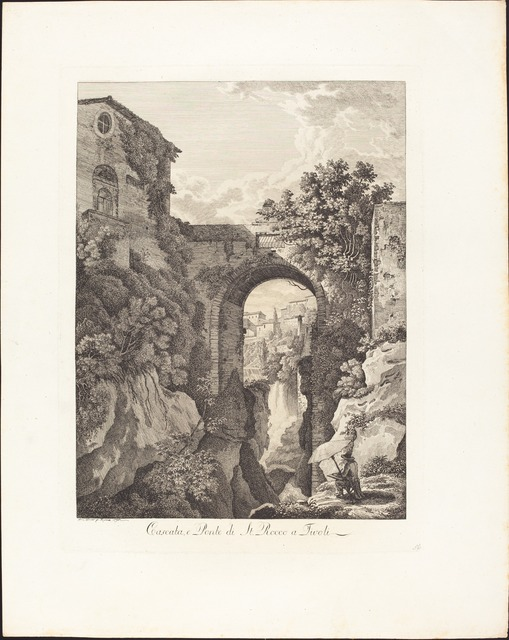 Albert Christoph Dies, 'Cascata e Ponte di San Rocco a Tivoli', 1795, National Gallery of Art, Washington, D.C.