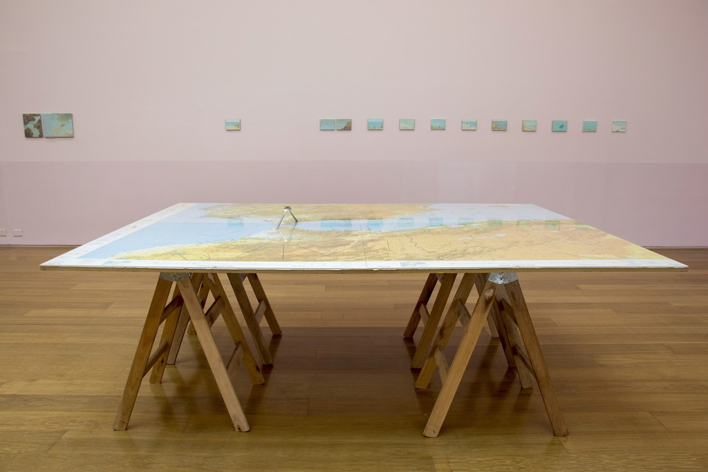 Francis Alÿs. A Story of Negotiation. Installation view.
