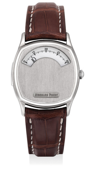 Audemars Piguet, 'A fine and very rare titanium limited edition minute repeating wandering hour wristwatch, numbered 2 of a limited edition of 3 pieces', 1996, Phillips