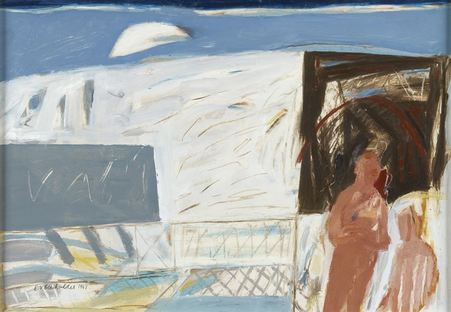 , 'Figures on a Balcony,' 1967, The Scottish Gallery