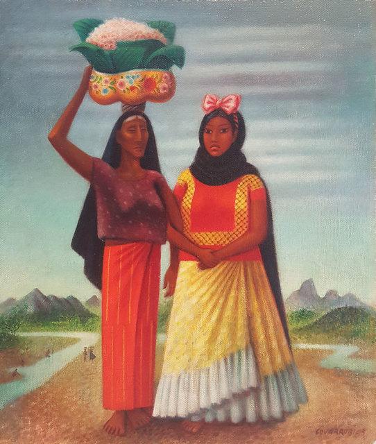 , 'Mujeres de Tehuantepec,' ca. 1940, GALERÍAS A. CRISTOBAL