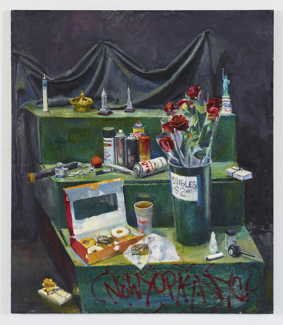 , 'Still Life on Green Steps with Various Objects,' 2014, Diane Rosenstein