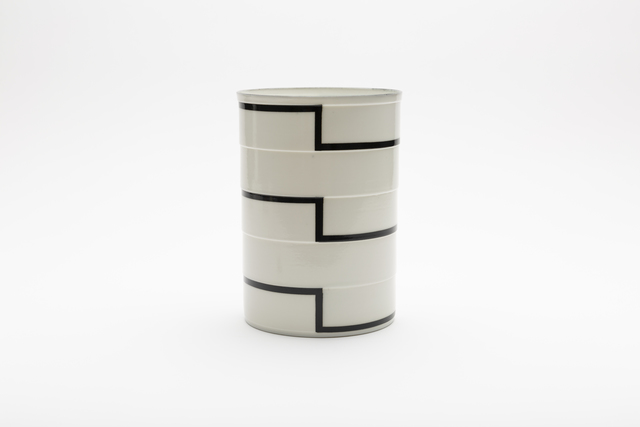 ", 'Cylinder No. 3a ""Black Stripes"",' 2018, Gallery LVS"