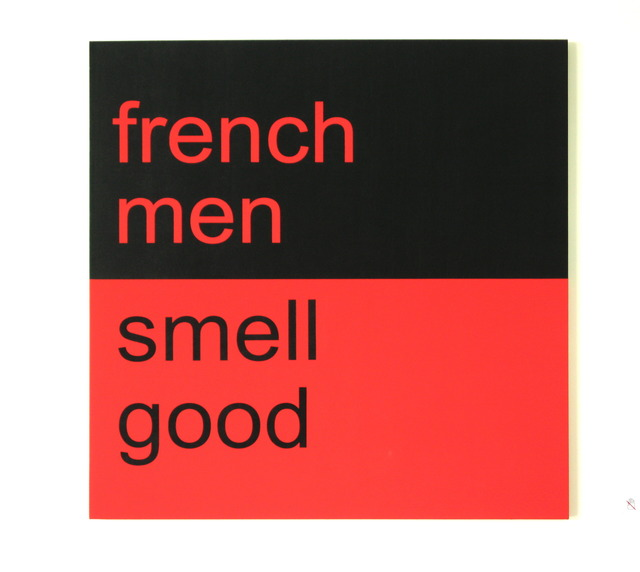 , '法国男人很好闻 / French men smell good,' 2009, Shanghai Gallery of Art